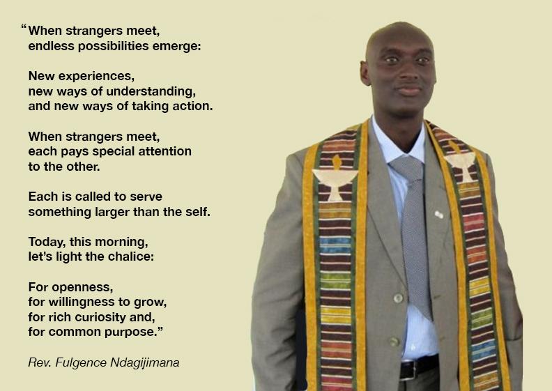 Rev. Fulgence Ndagijimana of the Unitarian Church in Burundi